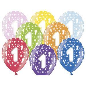 PartyDeco Balónek s číslem 1 narozeninový