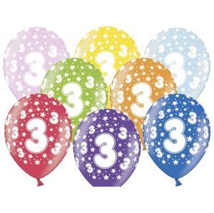 PartyDeco Balónek s číslem 3 narozeninový