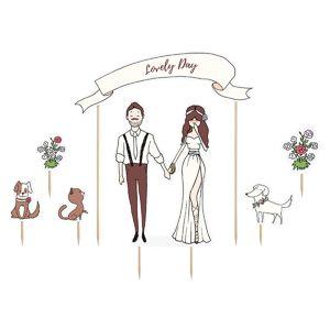"""PartyDeco Ozdoby na dort """"Lovely day"""""""