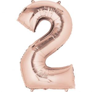 Amscan Balónek fóliový narozeninové číslo 2 - růžovo-zlatý