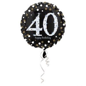 Amscan Fóliový balónek 40 třpytivá zlatá