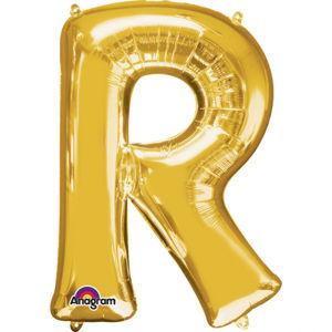 Amscan Mini fóliový balónek písmeno R 33 cm zlatý