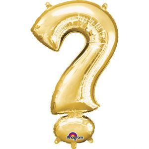 Amscan Mini fóliový balónek symbol ? 33 cm zlatý