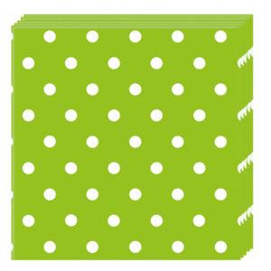 Procos Puntíkové Ubrousky – zelené 20ks