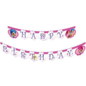 Procos Banner Happy Birthday - Shimmer and Shine