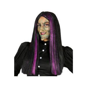 Guirca Kouzelnická paruka s fialovými proužky