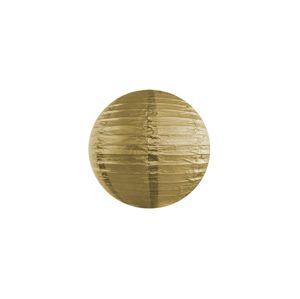 PartyDeco Kulatý Papírový Lampion Zlatý 35 cm