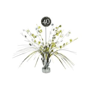 Amscan Dekorace na stůl 40. narozeniny - třpytivě zlatá