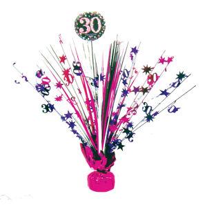 Amscan Dekorace na oslavu - třpytivé 30. narozeniny (růžová)