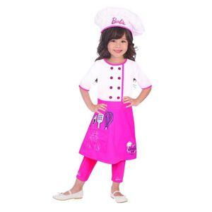 Amscan Dětský kostým - Barbie šéfkuchařka Velikost - Děti: S/M