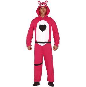 Guirca Pánský kostým - Teddy bear růžový (Fortnite)