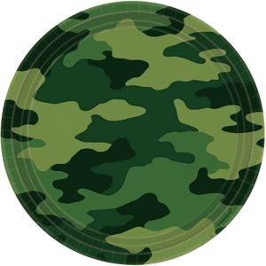 Amscan Talíře vojenské maskáčové 8 ks