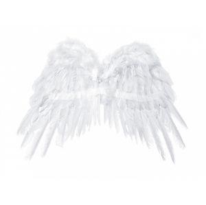 PartyDeco Bílé Andělská křídla