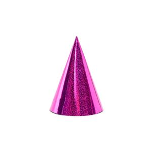 PartyDeco Party kloboučky - holografické pink
