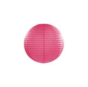 PartyDeco Kulatý papírový lampion tmavě růžový 20 cm