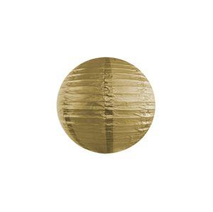 PartyDeco Kulatý papírový lampion zlatý 20 cm