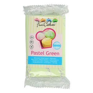 Funcakes Pastelově zelený rolovaný fondán Pastel Green (barevný fondán) 250 g