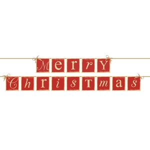 PartyDeco Baner Merry Christmas
