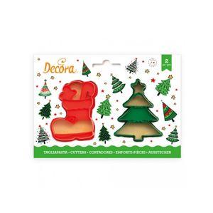 Decora Sada vánočních vykrajovátek - bota a stromeček