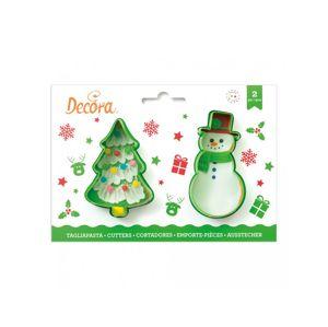 Decora Sada vánočních vykrajovátek - stromeček a sněhulák
