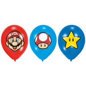 Amscan Latexové balóny - Super Mario 6 ks