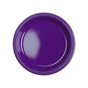 Amscan Plastové talíře - fialové 10 ks