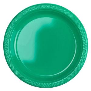 Amscan Plastové talíře - zelené 10 ks