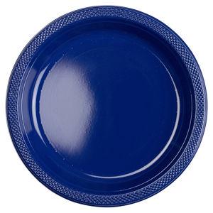Amscan Plastové talíře - námořnická modrá 10 ks