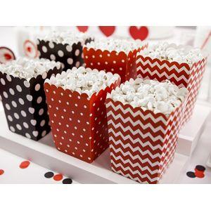 PartyDeco Dekorativní boxy na popcorn  Beruška 6 ks