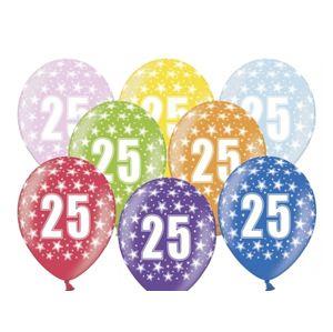 PartyDeco Balónek s číslem 25 narozeninový