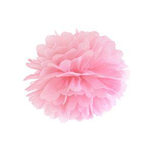 PartyDeco Pompom ve tvaru květu světle růžový 35 cm