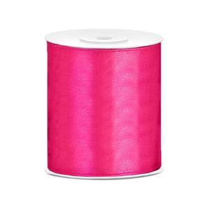 PartyDeco Saténová stuha růžová 100mm/25m
